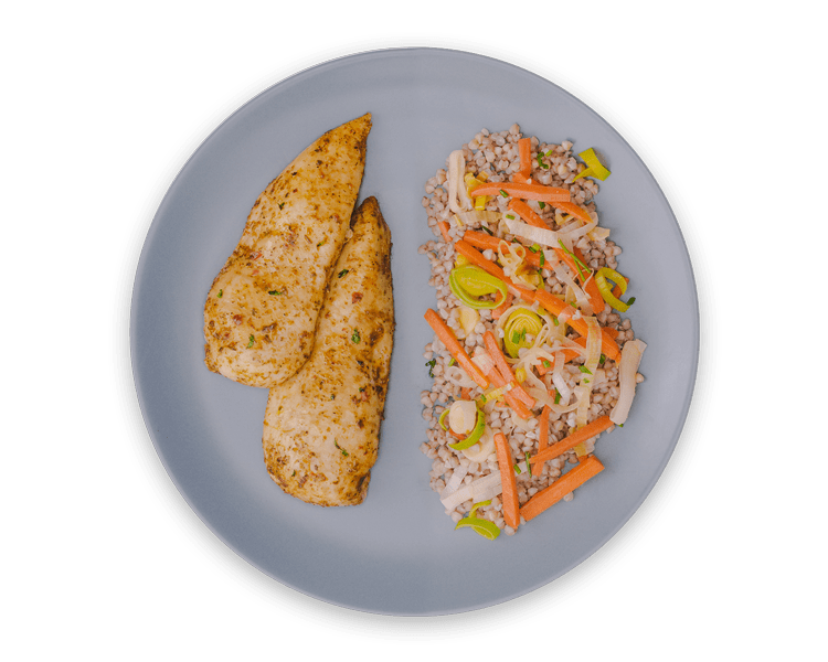 Pohánka s mrkvou a pórom