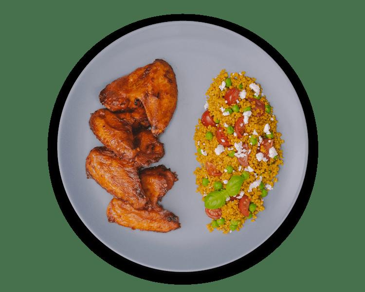 Quinoa s kurkumou a hráškom